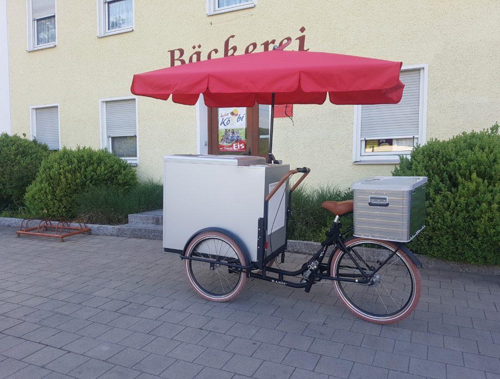 Eis Fahrrad der Dorfbäckerei Köbler